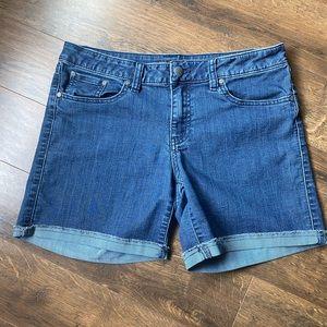 Blue denim Prana shorts